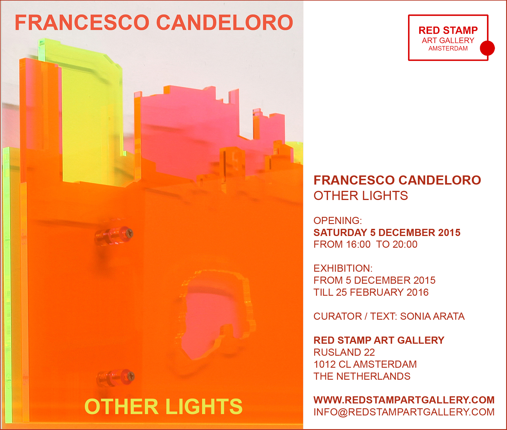 francesco candeloro, other lights, red stamp art gallery, amsterdam